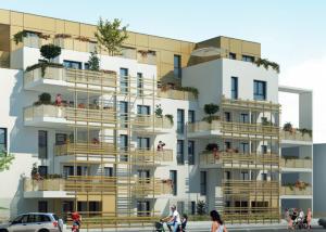 visuel extérieur bâtiment investissement locatif à Dijon Faubourg Sud