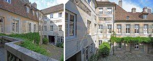 visuel cour intérieur investissement monuments historiques besançon Hotel lavernette