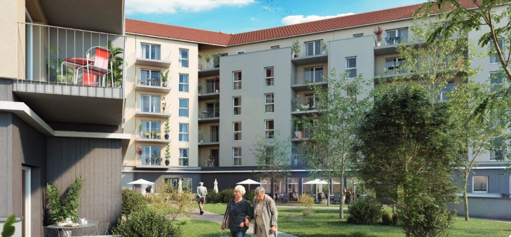visuel jardin invesissement LMNP résidence services seniors chalon-sur-Saône